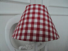 ** LAURA ASHLEY LAMPSHADE** RED GINGHAM CHECK COUNTRY STYLE Buy 2 get free post
