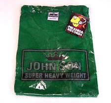 John Son Premium Quality Green T-Shirt 4XL 100% Cotton Piranha Records