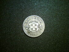 1850 SWITZERLAND 10 RAPPEN COIN. EXCELLENT GRADE EF