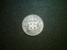 1850 SWITZERLAND 10 RAPPEN COIN. EXCELLENT GRADE EF