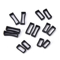 2X 14mm-26mm Rubber Silicone Watch Band Loop Strap Small Holders Lockers Keepers