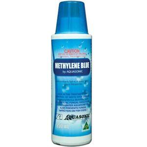 Aquasonic Methylene Blue 250ml - Whitespot & Fungal Treatment Freshwater/Marine