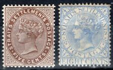 STRAITS SETTLEMENTS MALAYA 1882/99 STAMP Sc. 46 AND 50 MH