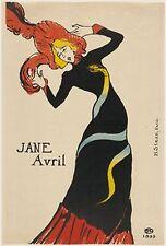 Toulouse-Lautrec-Jane Avril Ed. 300 ud Signed Print. Num. pencil. Certif. Editio