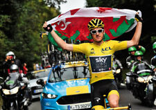 Geraint Thomas Tour de France Winner 2018 Flag POSTER