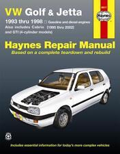 93-98 Volkswagen VW Golf GTI Jetta GTI 95-02 Cabrio Repair Shop Manual Book 7128