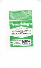Division 2 Plymouth Argyle Teams O-R Football Programmes