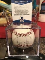 Andy Marte single signed autographed Baseball Beckett authenticated. Deceased
