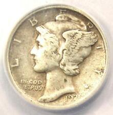 1921 Mercury Dime 10C Coin - ANACS VF30 - Rare Date - Rare Rotated Dies!