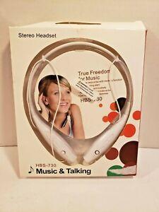 Bluetooth Wireless Neck Band Headset WHITE U