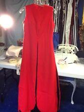 Geoffrey Beene Iconic Red/Black Wool Petal Dress 6