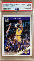 2018-19 PANINI DONRUSS OPTIC #94 LEBRON JAMES 1ST LAKERS CARD PSA 9 MINT!