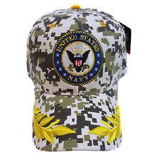 US MILITARY NAVY DIGITAL CAMOUFLAGE (Oak Leaf On Brim) Hat Cap