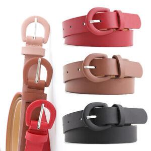 Women Casual Alloy Pin Buckle Belt Wide Leather Waist Belt Jeans Pants Waistband