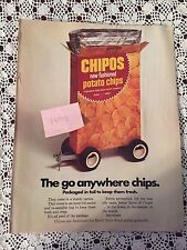 1973 Chipos Potato Chips Ad Advertisement - Vintage General Mills FREE SHIPPING!