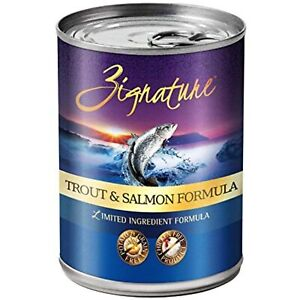 Zignature Grain Free Trout And Salmon Canned Dog Food 13Oz