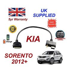 For KIA Sorento iPhone 3 3gs 4 4S iPod USB & 3.5mm Aux Audio Cable MY 20012+