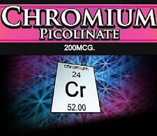 3x Chromium Picolinate Pills Blood Sugar Cholesterol Fat Metabolism