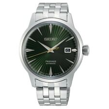 Seiko JAPAN Made Presage Cocktail Mockingbird Men's Stainless Steel Watch