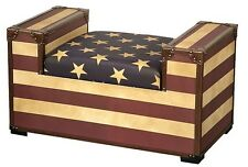 Vintage Retro Style Stars and Stripes Design Bench Seat