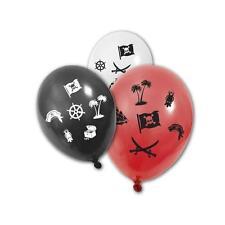 8 Ballons rouges,blancs,noirs Pirate.Décoration anniversaire,baptême,communion