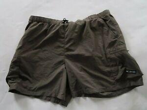 Columbia Womens Nylon Dark Gray Elastic Waist Outdoor Hiking Shorts Size XL