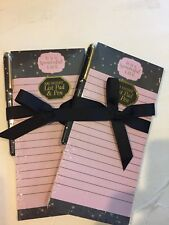 Wonderful Life Note Pad Pen Set Magnetic Set 2 New Gift