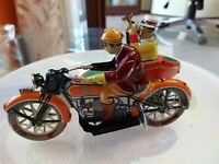 Motocarrozetta SIDECAR 1936 In Latta Replica Made in Japan da collezione+Rivista