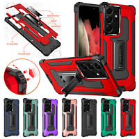 For Samsung S21 Ultra S21+ S20 FE Note20 Shockproof Hybrid Stand Hard Case Cover