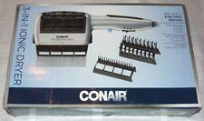 NEW CONAIR 1875 Watt 3-in-1 Hair Dryer Ionic Technology Styler + 3 Attachments