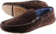 NWB 520$ ISAIA DRIVING MOCCASINS loafer shoes suede brown Italy 10 us 12