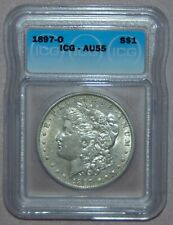 1897 O Morgan Silver Dollar ~ ICG AU55 - KEY DATE, HIGH GRADE!!!
