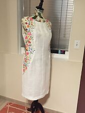 Ukrainian Embroidered Linen Dress Boho Folk