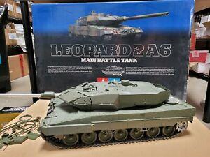 """Tamiya RC 1/16 Leopard 2A6 Full Option w/ DMD Control Unit Tank """"AS IS"""""""