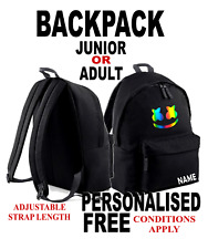Youth kids RAINBOW MARSHMELLO gym school backpack MERCH PERSONALISED FREE
