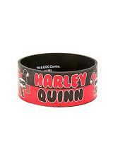 Suicide Squad DC Comics Harley Quinn and Joker Chibi Rubber Bracelet Red Black