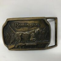 VTG Remington Arms Company  Hunting Dog Pointing Rifle Belt Buckle 1974 Guns