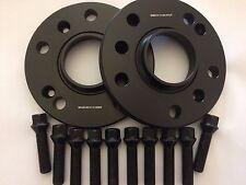 15mm BIMECC BLACK HUB CENTRIC SPACERS + 10 X 45mm BOLTS FITS PORSCHE SEE LIST