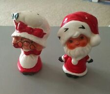 Vintage Japanese Santa & Mrs Claus Salt & Pepper Shakers
