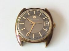 Vintage UNIVERSAL GENEVE UNISONIC Mens Date WATCH 1960's 1970's UG Black Dial!