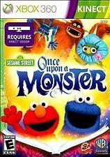 Sesame Street Once Upon a Monster XBOX 360 KINECT PLATINUM HITS NEW! ELMO COOKIE