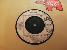 """ANDY GIBB * ( OUR LOVE ) DON'T THROW IT ALL AWAY * 7"""" SINGLE VERY GOOD RO 26"""
