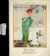 1922 Standard Plumbing Fixtures Bathroom Vintage Print Ad 6465