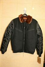 Schott NYC Men Wool Blend Bomber Jacket style 7924 Sz: M black