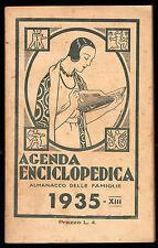AGENDA ENCICLOPEDICA ALMANACCO DELLE FAMIGLIE 1935 - DISEGNI DI MORANDINI