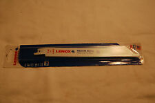 "Lenox 8"" 14 TPI 818R Bi-Metal Medium Metal Reciprocating Blades (Pack of 5)"