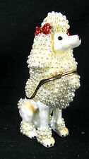 Poodle Dog Jeweled Pewter Trinket or Jewelry Box canine decor
