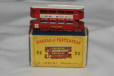 "Matchbox MOY Yesteryear #Y-3 London ""E"" Class Tramcar, Nice, Boxed"
