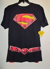 Mens Awesome SUPERMAN Cape Shirt, Size Small (34-36) - BRAND NEW W TAGS!!