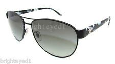 Authentic VERSACE Black Aviator Sunglasses VE 2145 - 100911 *NEW*
